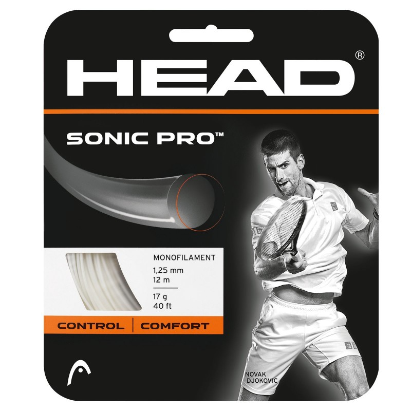Head Sonic Pro 1.25 White Tennis String Set