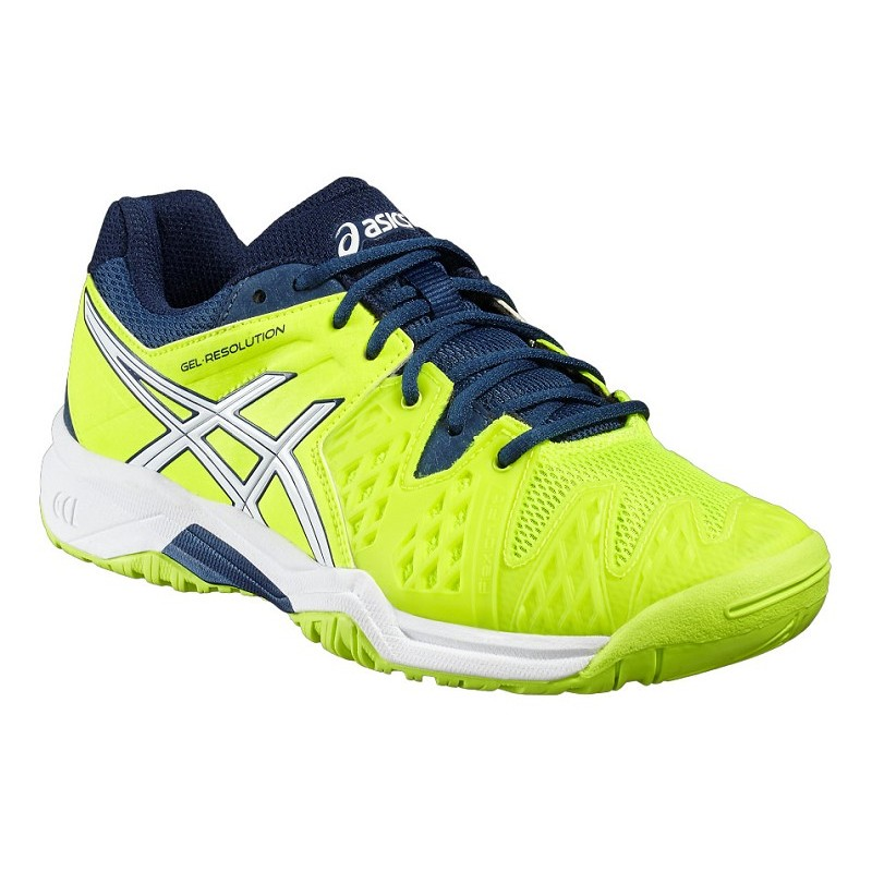Asics Resolution 6 Jr Tennis Shoe