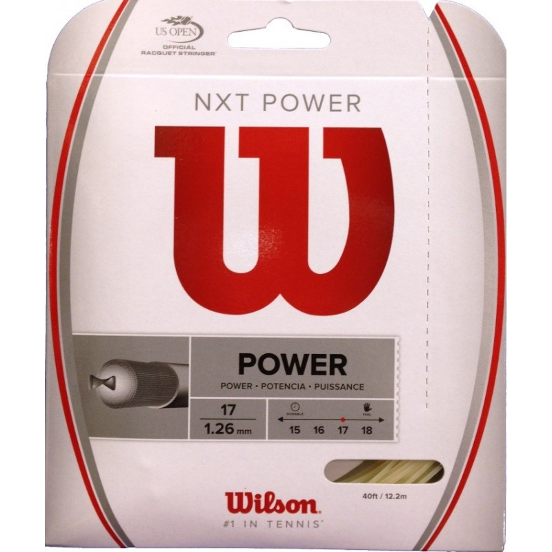 Wilson NXT Power 1.26 Tennis String Set