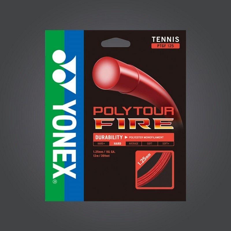 Yonex Polytour Fire 1.25 Red Tennis String Set