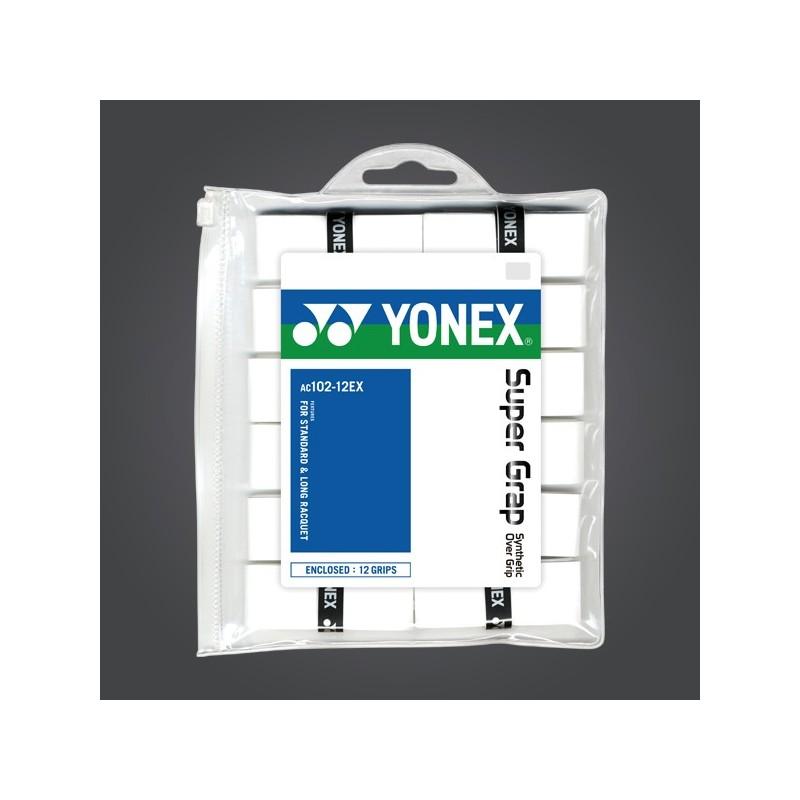 Yonex Super Grap Overgrips WH(12 wraps)