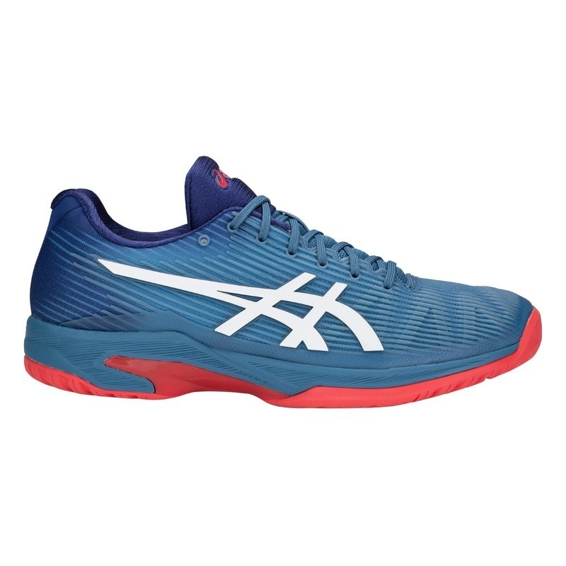Asics Mens Solution Speed FF Azure-White Tennis Shoe