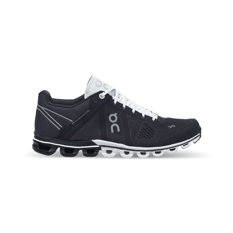 ON Womens Cloudflow Running Shoe Black White