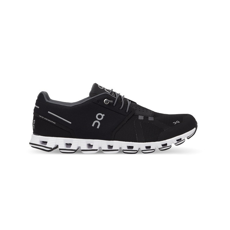 ON Mens Cloud Running Shoe Black White