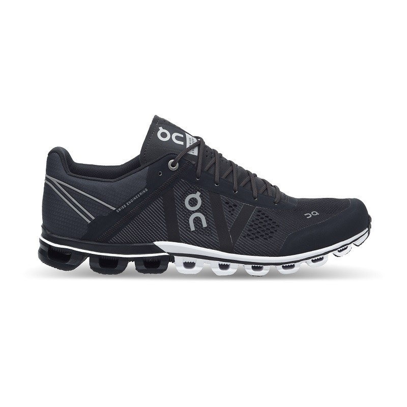 ON Mens Cloudflow Running Shoe Black Asphalt
