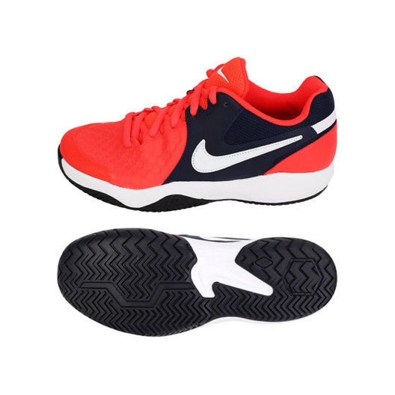 Mens Air Zoom Resistance Tennis Shoe Bright Crimson Blue