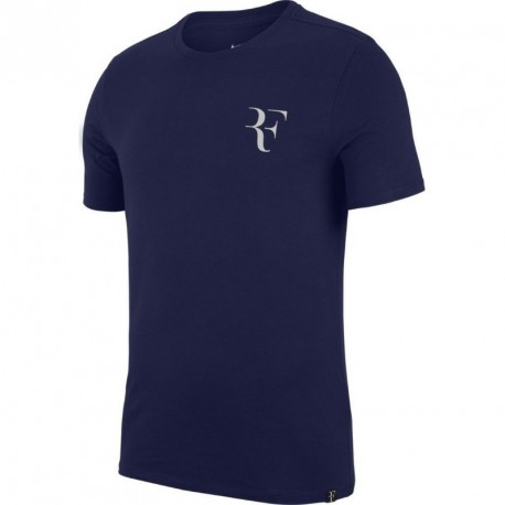 Mens Nike RF Tee Blue Void