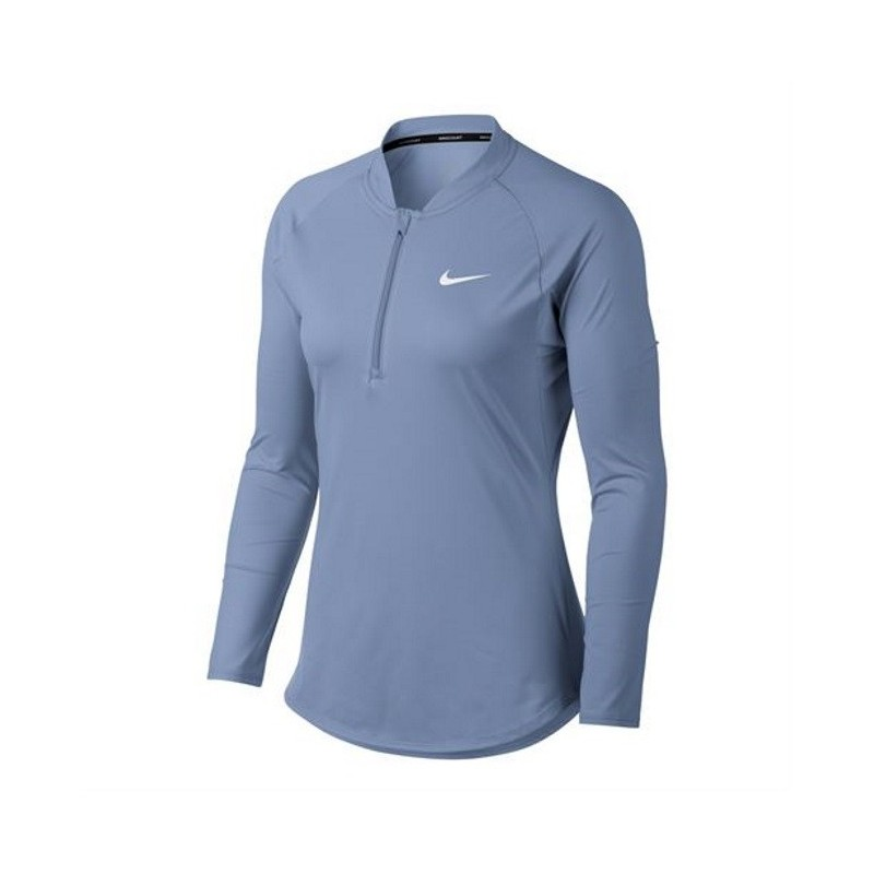 Womens Nike Nkct Pure Tennis Top Royal Tint White