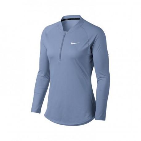 Womens Nike Nkct Pure Tennis Top Royal Tint White