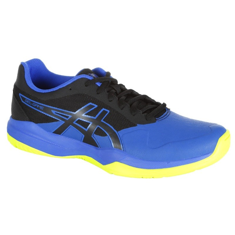 Asics Mens Gel Game 7 BLU/BLLK/YEL Tennis Shoe