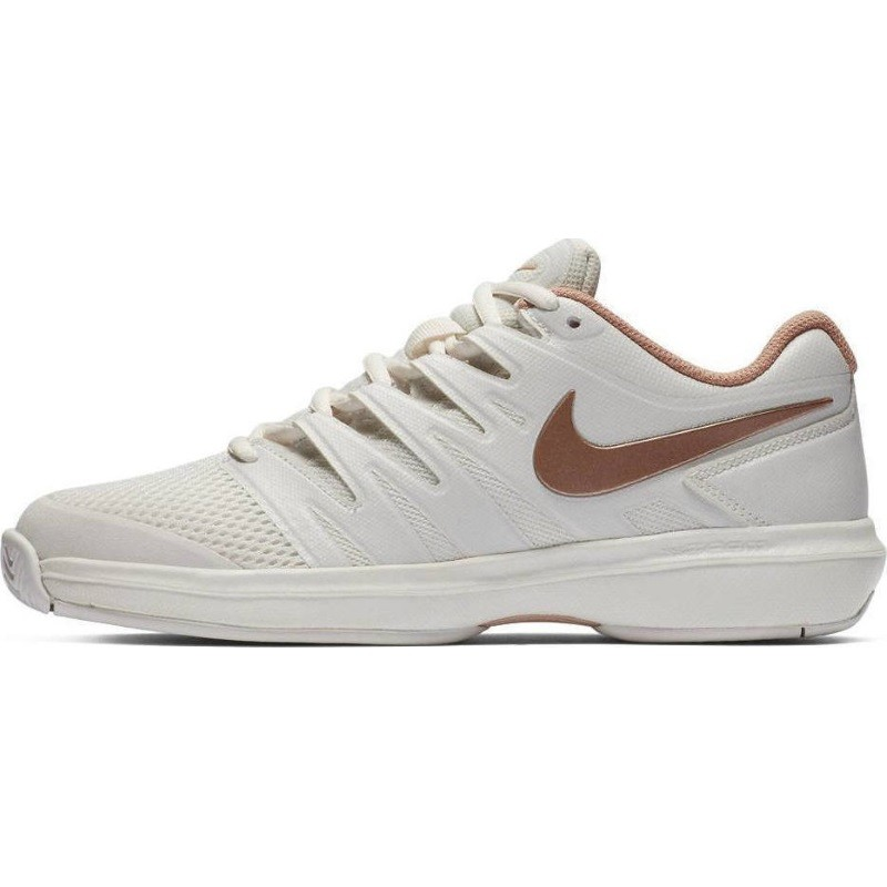 Womens Nike Air Zoom Prestige Tennis Shoe WHITE BRONZE