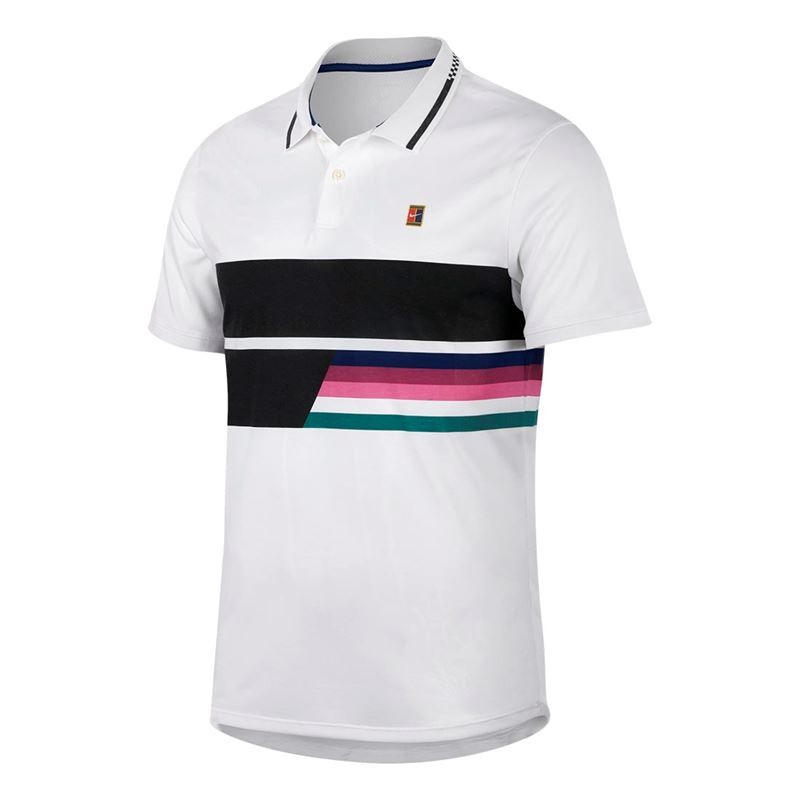 Mens Nike NKCT Advantage Polo Classic White