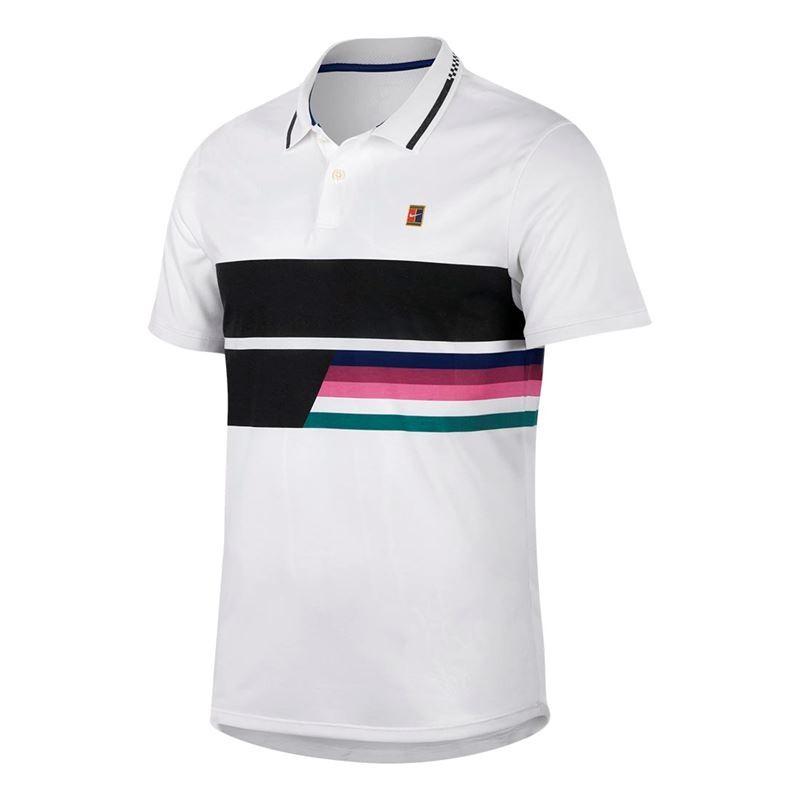 Mens Nike NKCT Advantage Polo Classic White