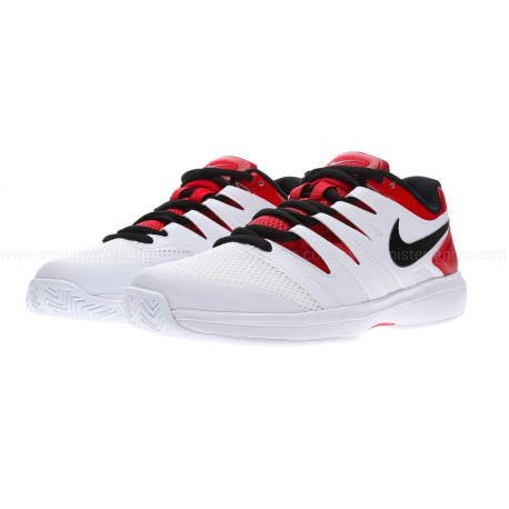 Mens Nike Air Zoom Prestige Tennis Shoe White Red