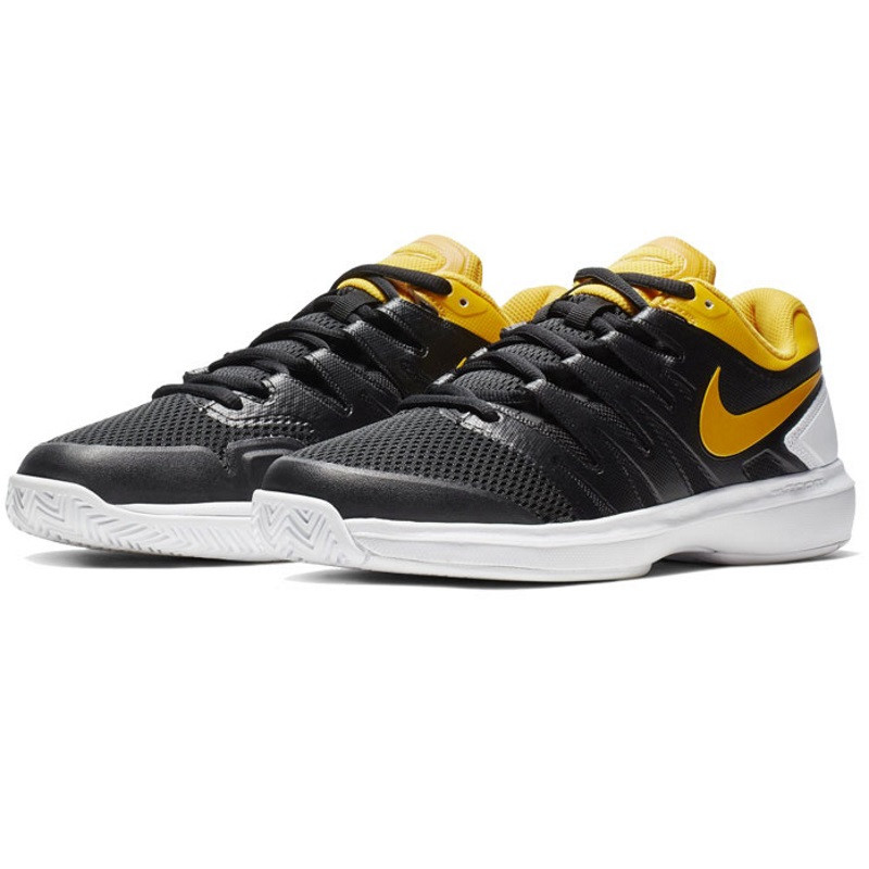 Mens Nike Air Zoom Prestige Tennis Shoe Black Yellow