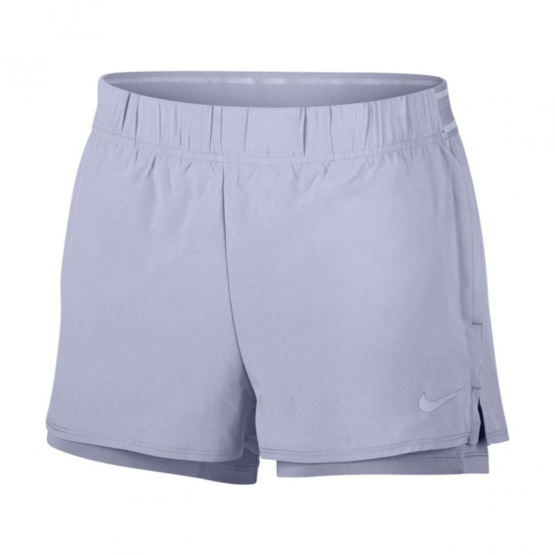 Womens Nikecourt Flex Tennis Short Purple