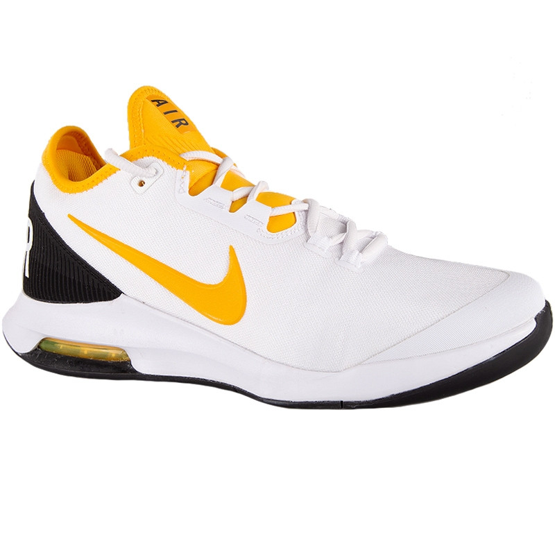 Mens Nike Air Max Wildcard Tennis Shoe WHITE YELLOW BLACK