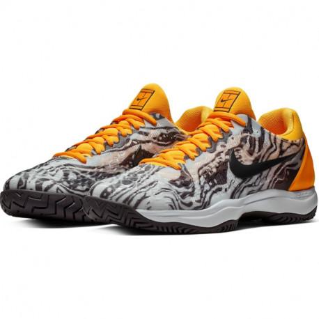 Mens Nike Zoom Cage 3 Tennis Shoe Platinum Grey