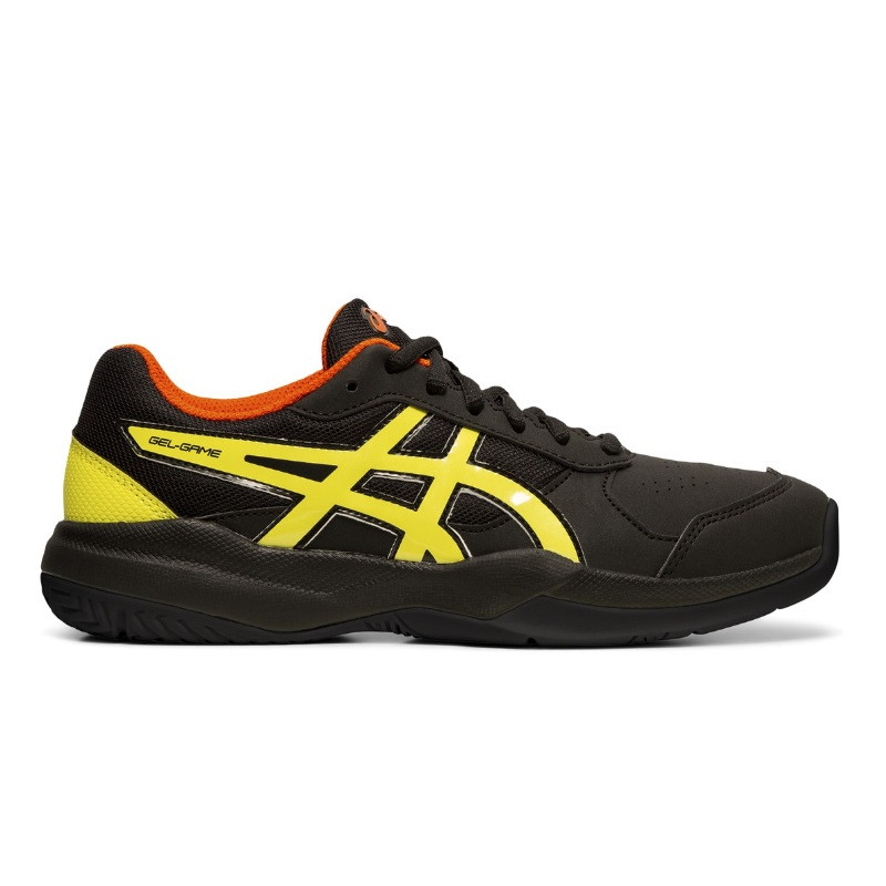 Asics Gel-Game 7 Jr  Black Yellow Tennis Shoe