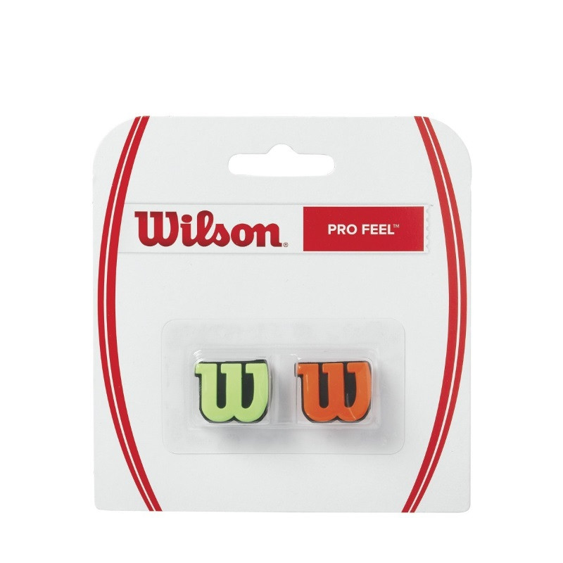 Wilson Pro Feel Green Orange Vibration Dampener