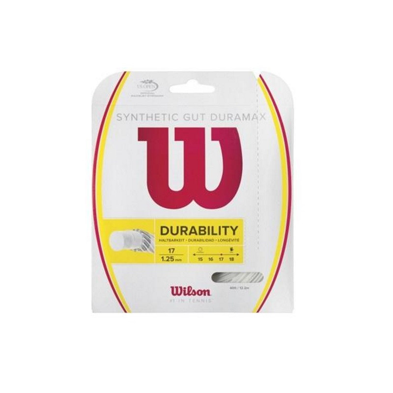 Wilson Synthetic Gut Duramax WHITE 1.25 Tennis String Set