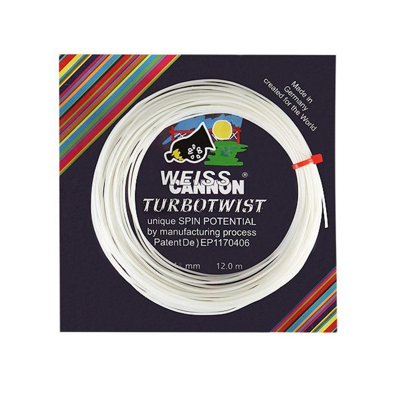 Weiss Cannon Turbo Twist 1.18 Tennis String Set