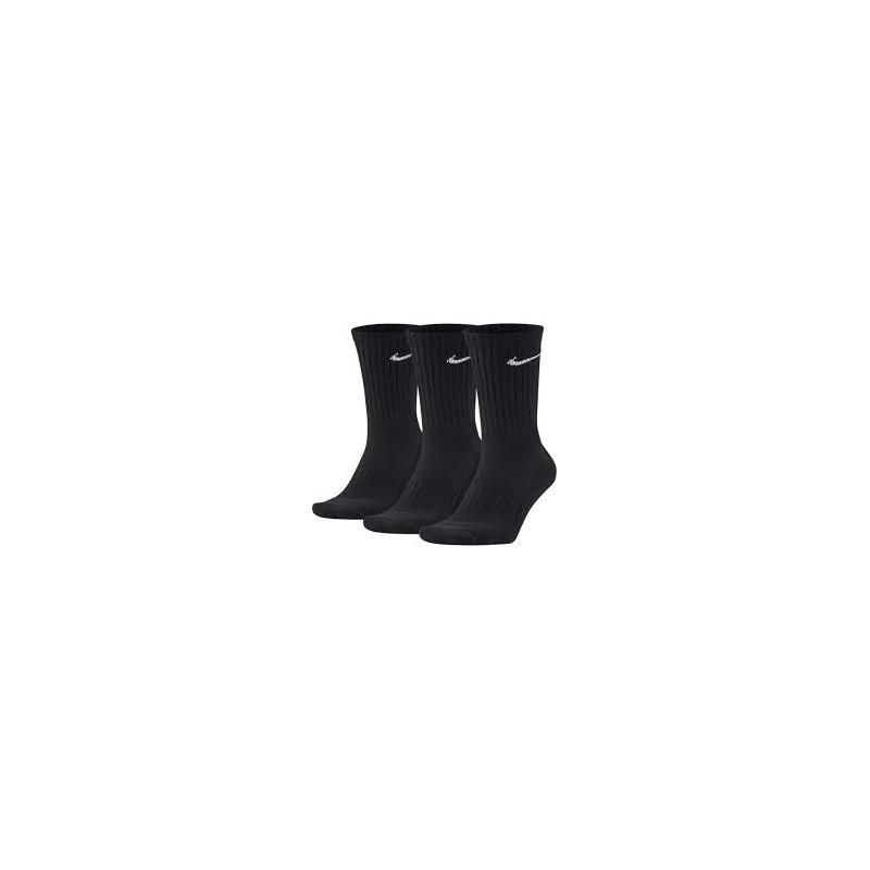 Nike Performance Cotton 3 Pack Black Socks