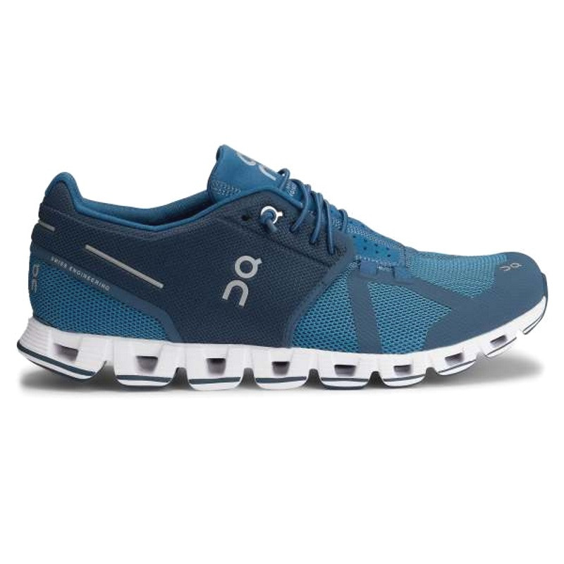 ON Mens Cloud Running Shoe Blue Denim