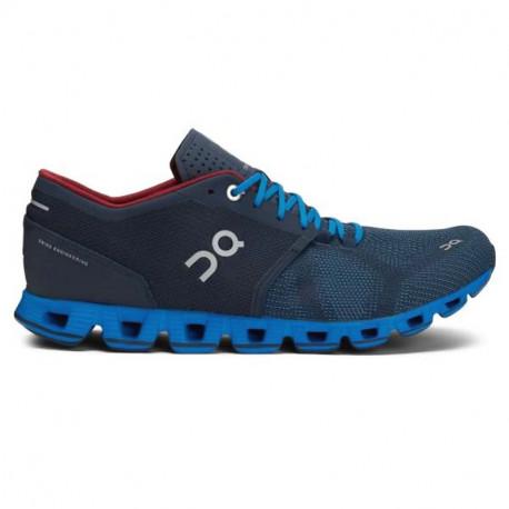 ON Mens Cloud X  Running Shoe Midnight Cobalt