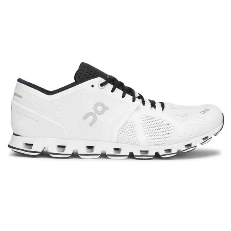 ON Womens Cloud X  Running Shoe White Black