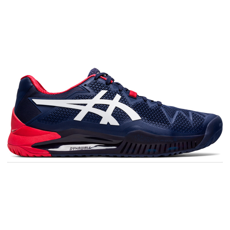 Asics Mens Gel Resolution 8 Tennis Shoes Blue White