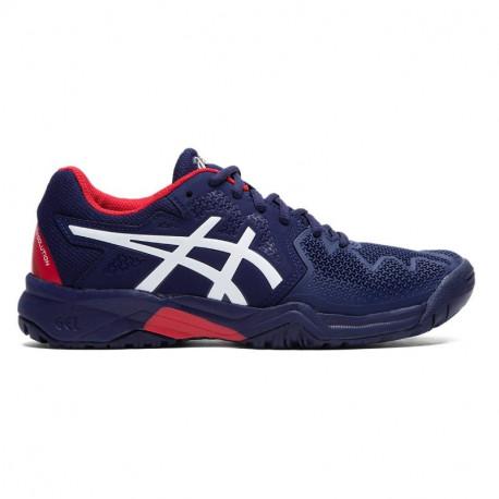 Asics Gel Resolution 8 Jr Tennis Shoes Blue White Red