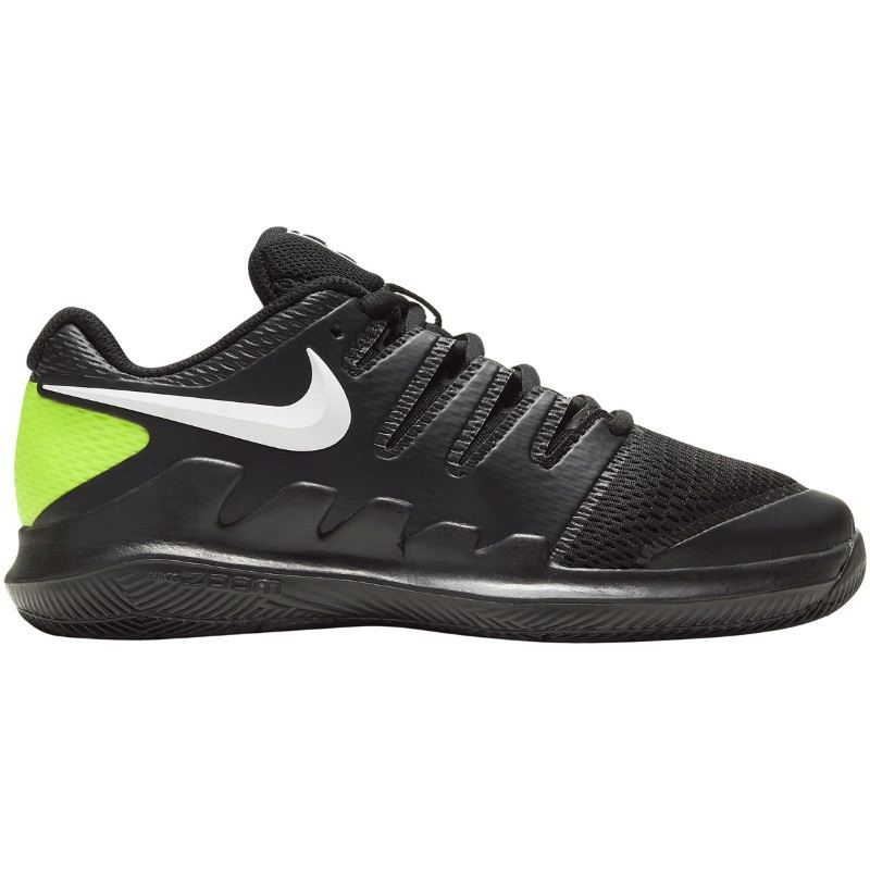 Juniors Nike Vapor 10 BLK/WH/LIME Tennis Shoe
