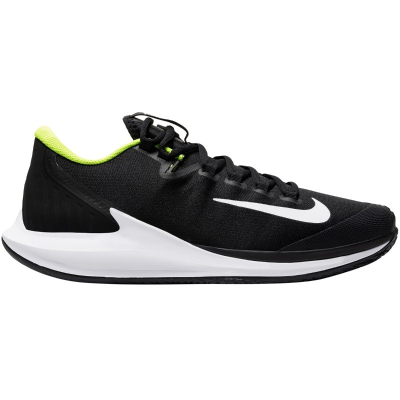 Mens Nike Air Zoom Zero BLK/WH/LIME Tennis Shoe