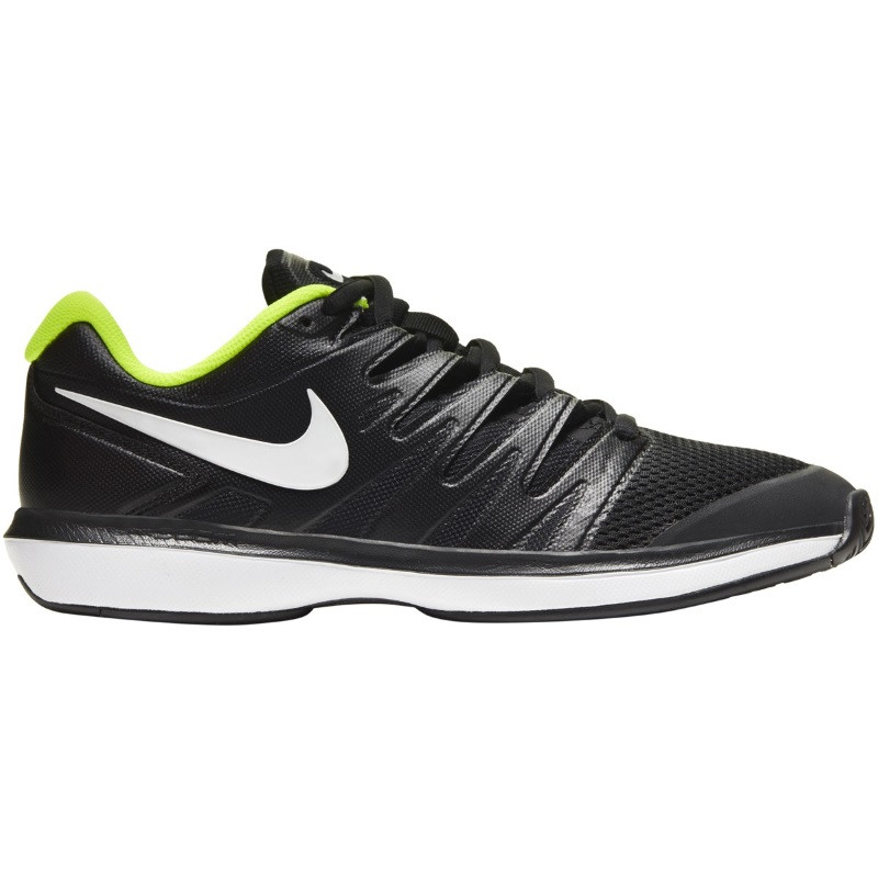 Mens Nike Air Zoom Prestige BLK/WH/LIME Tennis Shoe