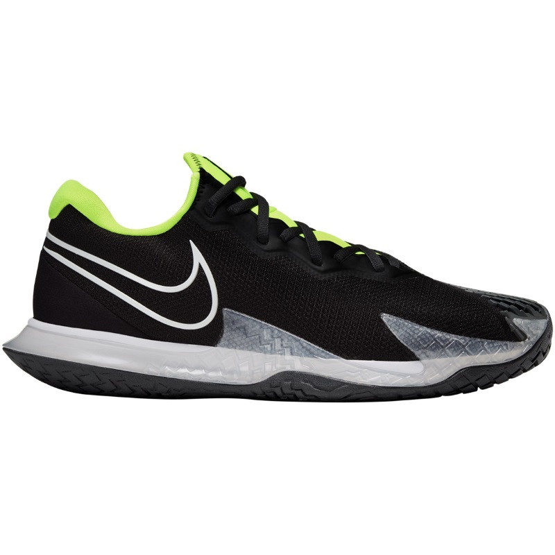 Mens Nike Air Zoom Vapor Cage 4 BLK/EH/LIME Tennis Shoe