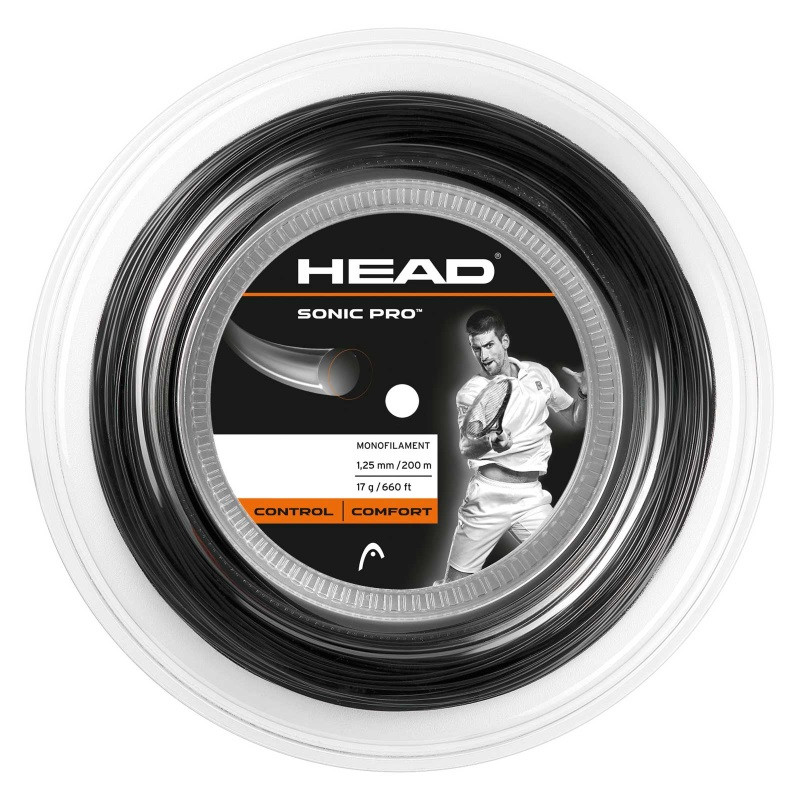 Head Sonic Pro 1.25 - 200m Black Tennis String Reel