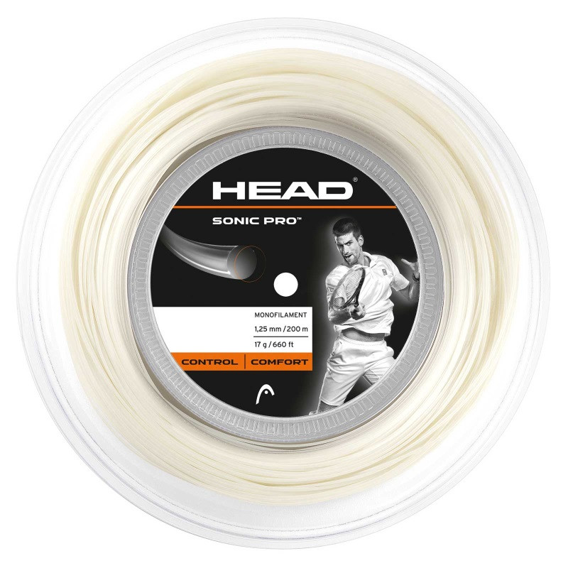 Head Sonic Pro 1.25 - 200m White Tennis String Reel
