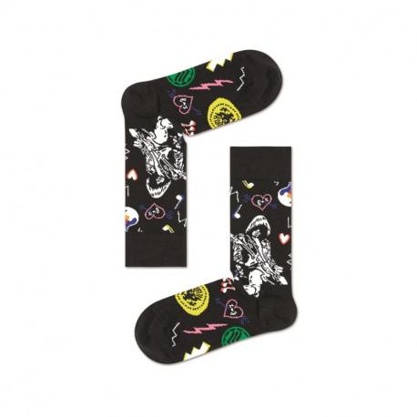 HAPPY SOCKS Linda And Johnny Black Guitar Sock RAM01-9300