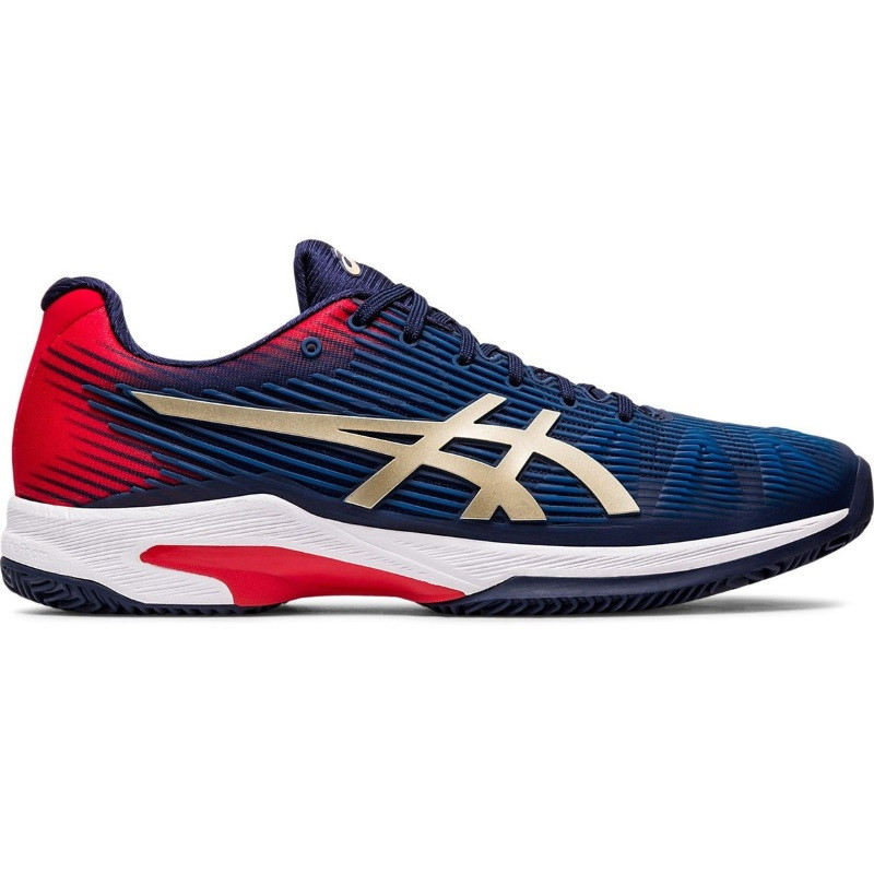 Asics Mens Solution Speed FF Tennis Shoe BLACK/GOLD/RED