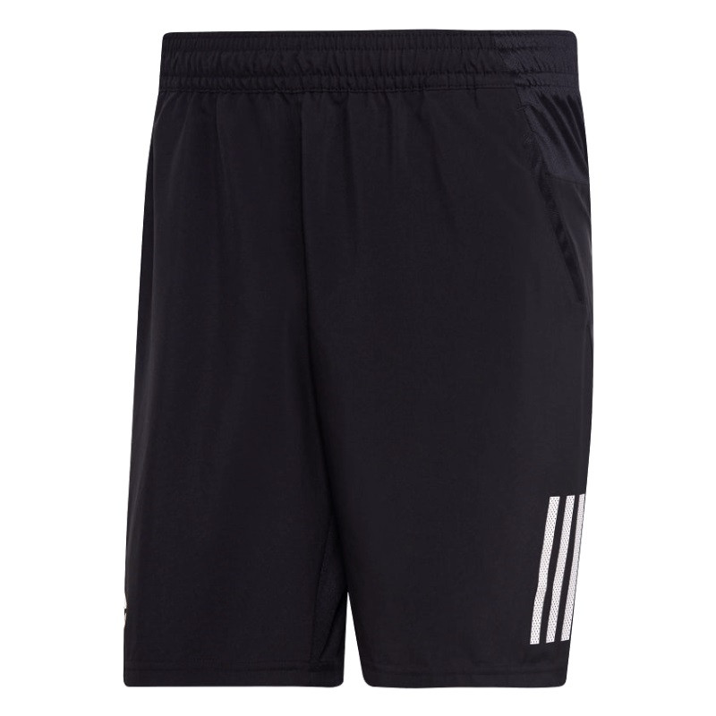 Adidas Mens Club 3 stripes 9 inch Shorts Black/White