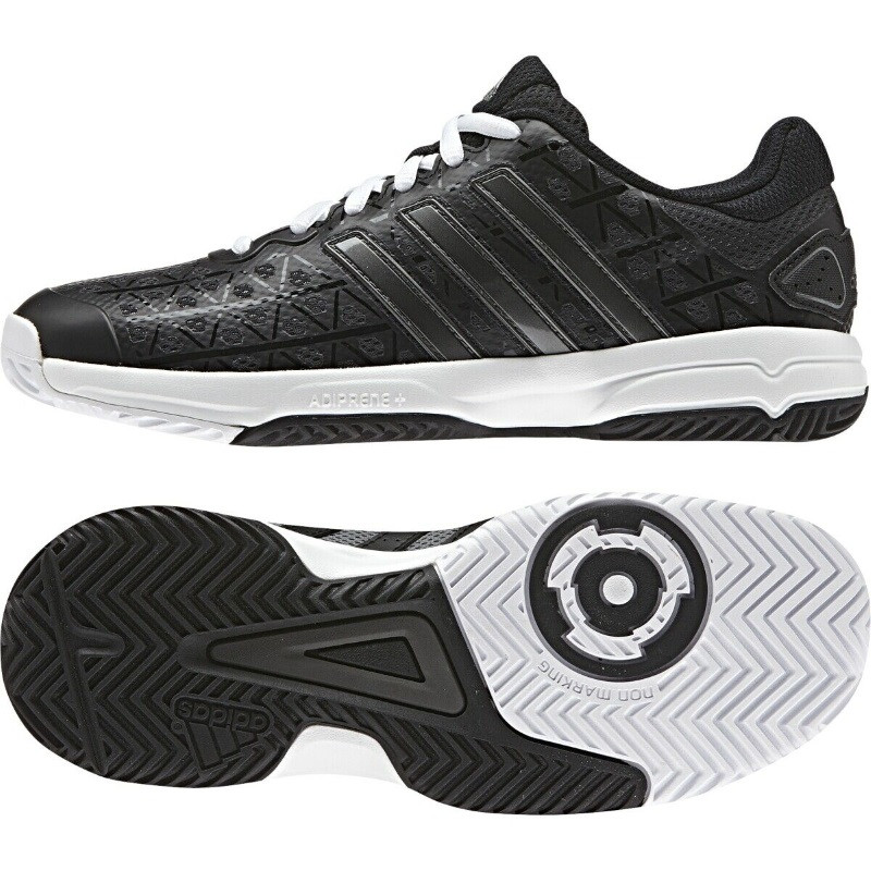 Adidas Juniors Barricade Club Black Tennis Shoe