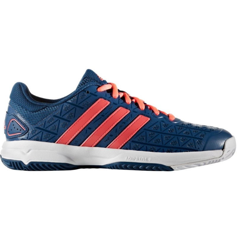 Adidas Juniors Barricade Club Blue/Red Tennis Shoe