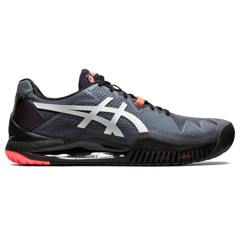 Asics Mens Gel Resolution 8 Tennis Shoes Limited Edition Black Silver