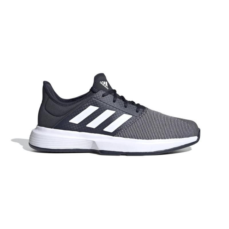Mens Adidas GameCourt Tennis Shoe Black/White