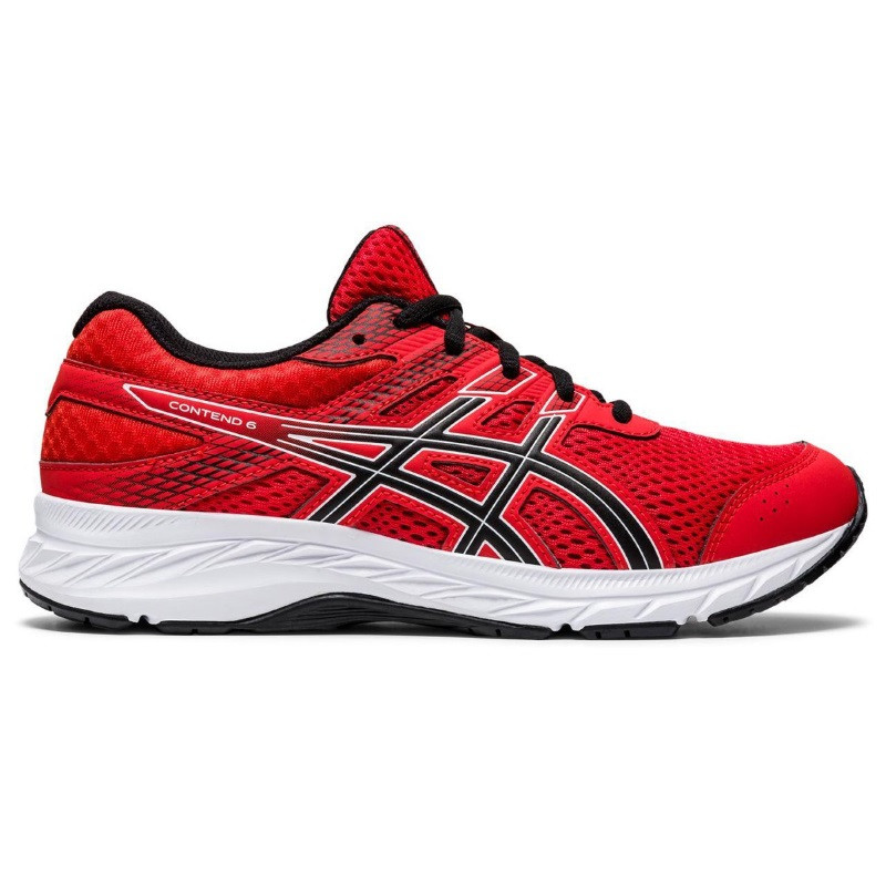Παιδικά παπούτσια για τρέξιμο Asics Contend 6 GS KOKKINO-ΜΑΥΡΟ