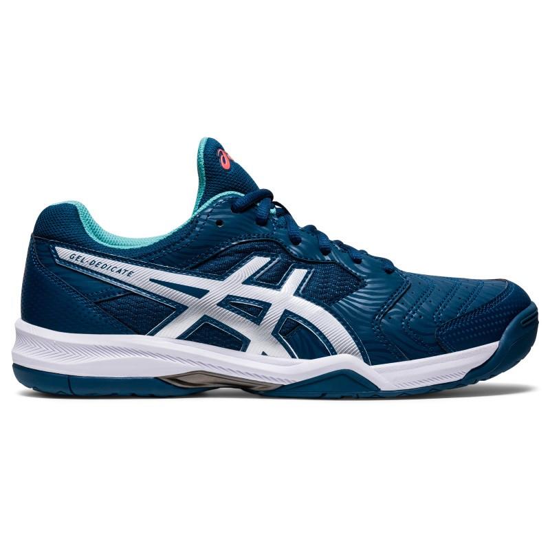 Asics Mens Gel Dedicate 6 Blu Silver Tennis Shoe