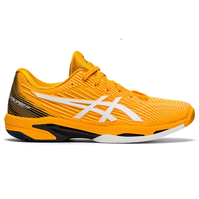 Asics Mens Solution Speed FF Tennis Shoe ORANGE/WHITE