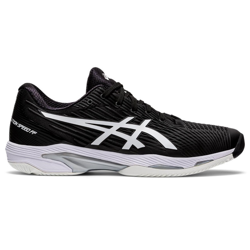 Asics Mens Solution Speed FF Tennis Shoe BLACK/WHITE