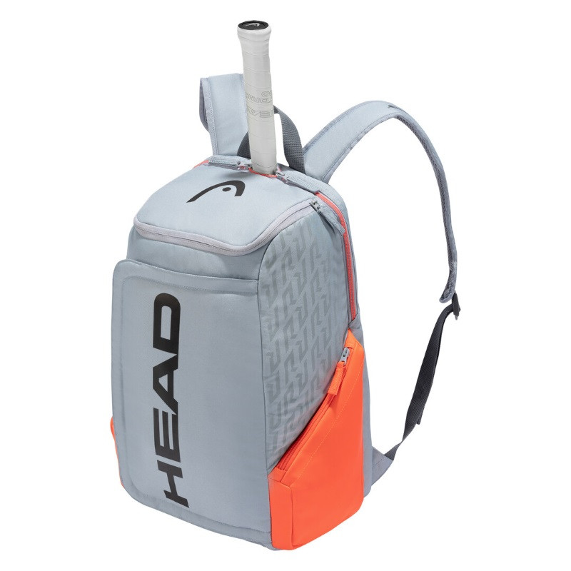 Head Rebel Tennis Backpack Grey/Orange 2021